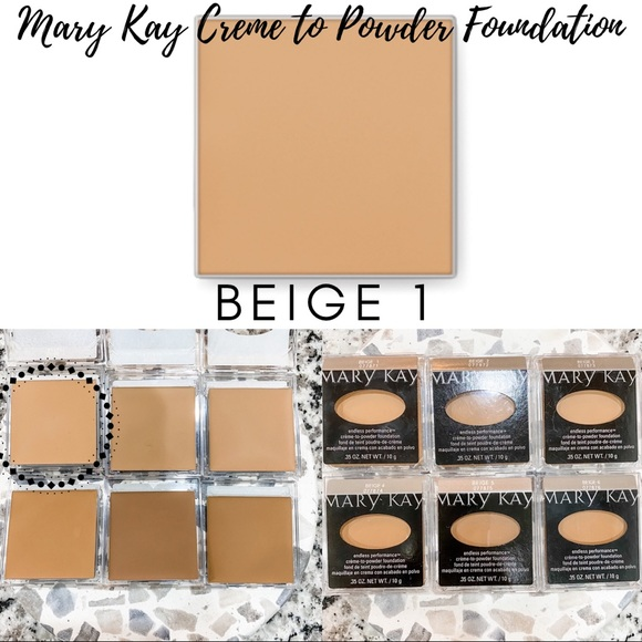Mary Kay Creme to Powder Foundation In Beige 1